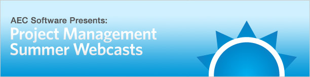 AEC Software's Project Management Summer Webcasts
