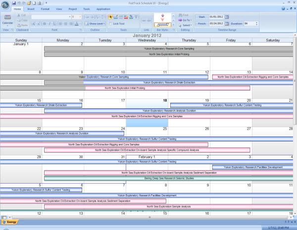 FastTrack Schedule Progress Tracking in Calendar View