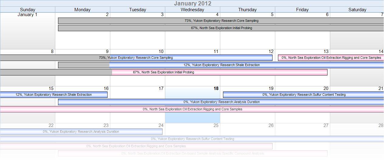 schedule on calendar