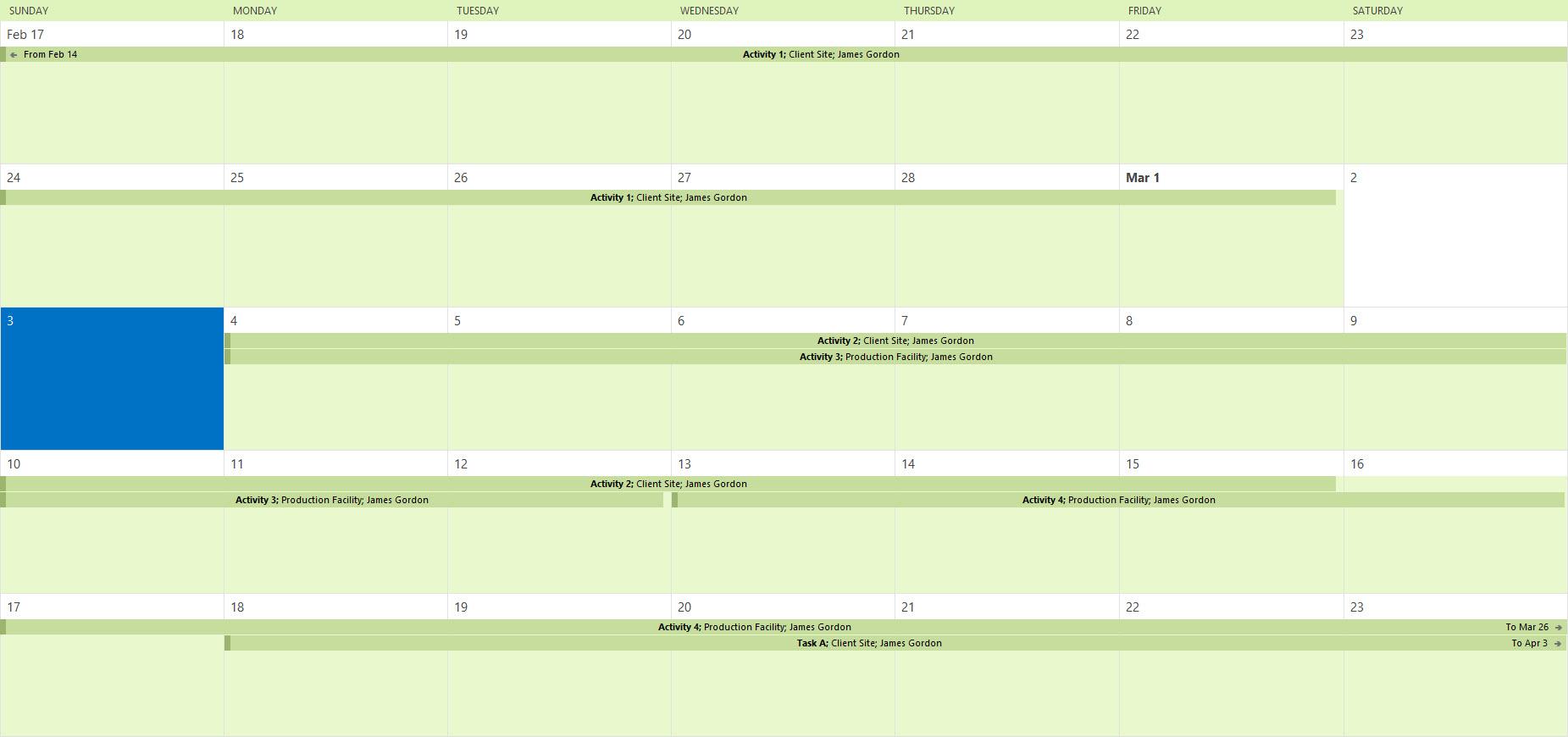 Imported Calendar