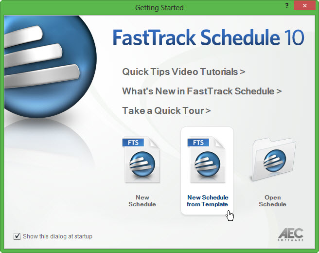 New Schedule from Template