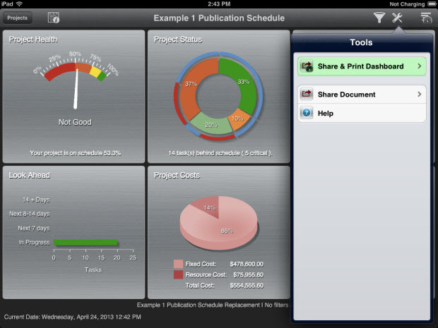 FastTrack Schedule Go - Schedule Dashboard Tools