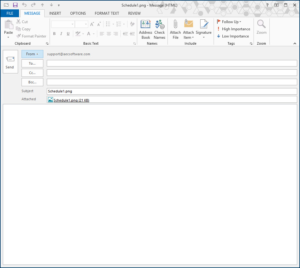 Blank Email with Picture