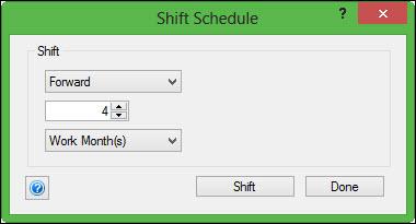 Shift Schedule 4 months