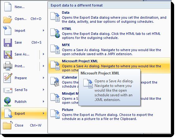 Export as XML