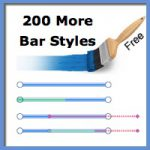 Get and Use 200 More Free Bar Styles