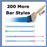 Free - 200 More Bar Styles