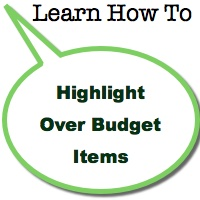 Highlight Over Budget Items