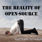 The Reality of Open-Source. Image created by FastTrack Schedule.